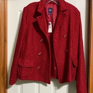 Red gap coat nwt